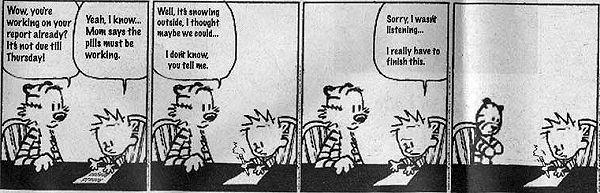 Calvin auf Ritalin